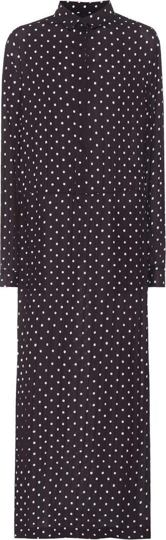 Haider Ackermann Polka-dot crêpe maxi dress