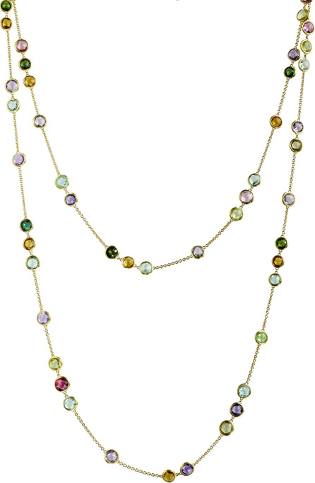 "Marco Bicego Jaipur Mixed-Stone Layering Necklace, 47""L"