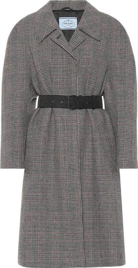 Prada Belted wool-blend coat