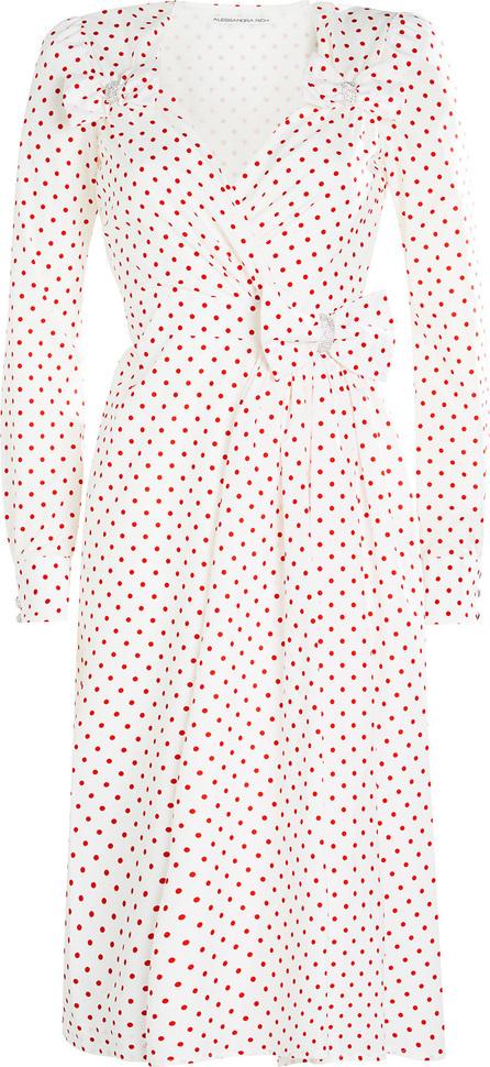 Alessandra Rich Printed Taffeta Dress