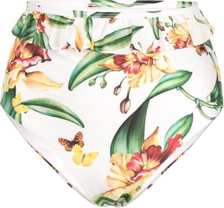 Agua by Agua Bendita Ruffle-trim floral bikini