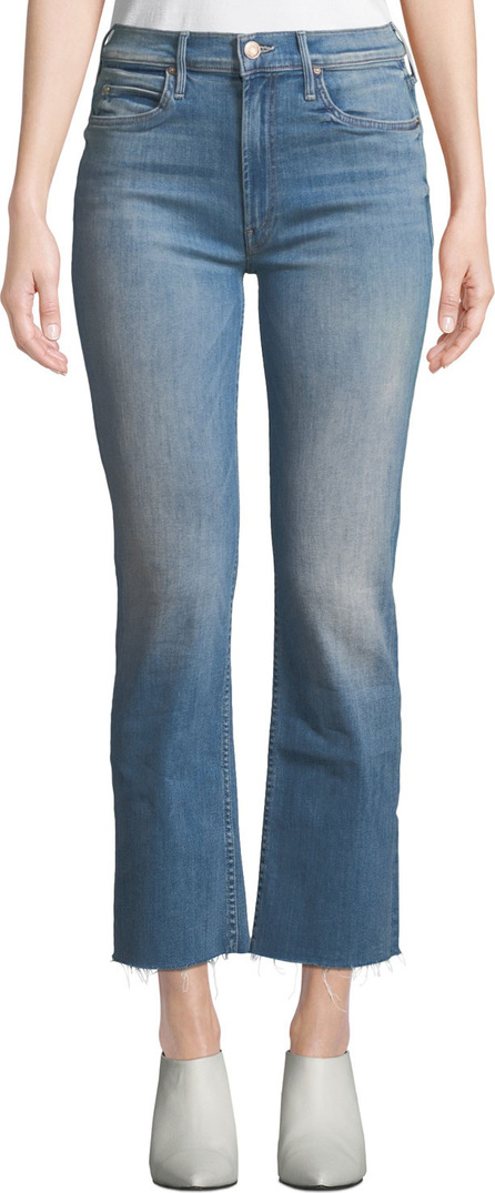 MOTHER The Dutchie Ankle Fray Straight Jeans