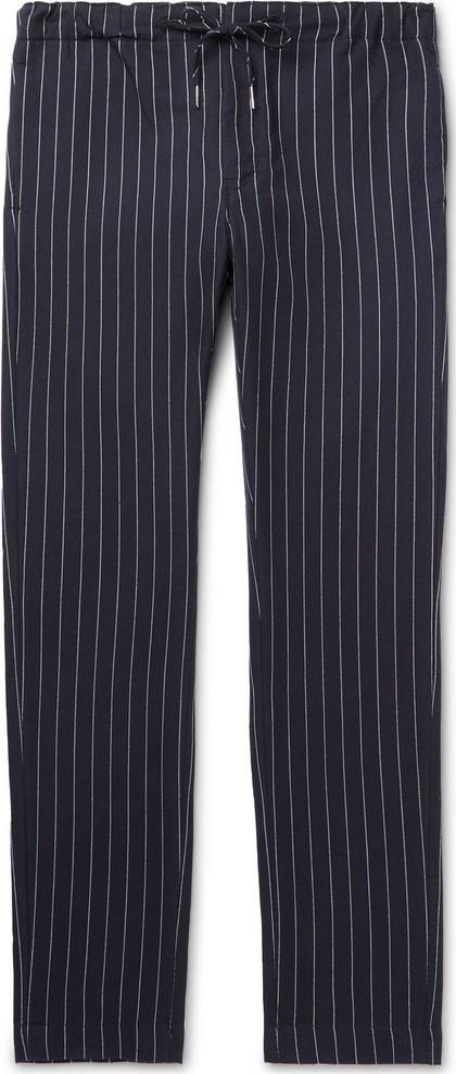 Bellerose Slim-Fit Pinstriped Cotton Drawstring Trousers