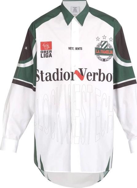 Vetements oversized football shirt