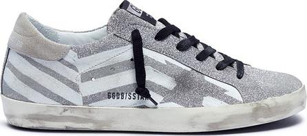 Golden Goose Deluxe Brand 'Superstar' chevron stripe print glitter coated sneakers
