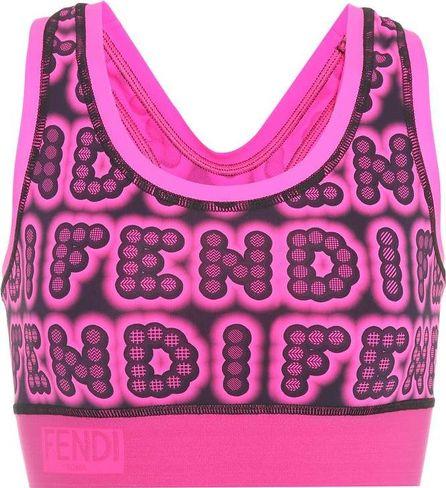 Fendi Fun Fair printed sports bra