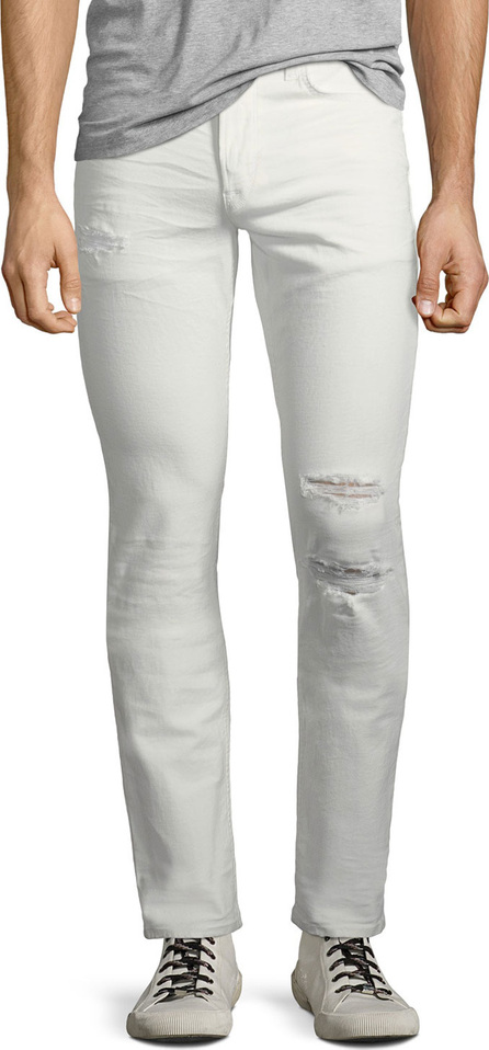 Hudson Men's Blake Slim-Straight Distressed Jeans, Caution