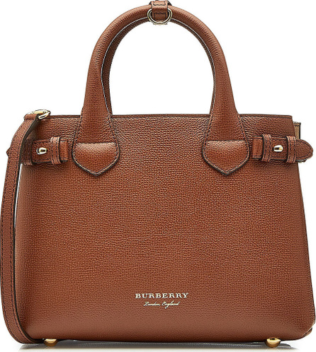 Burberry London England Small Banner Leather Tote