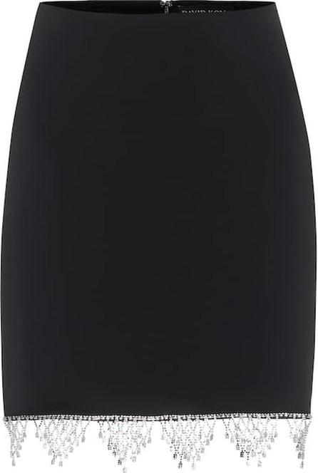 David Koma Exclusive to Mytheresa – Embellished cady miniskirt