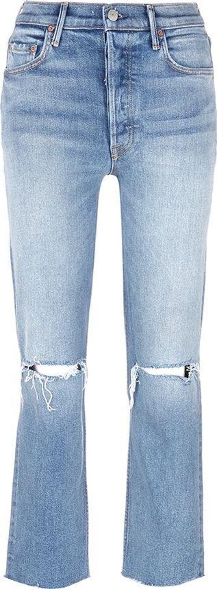 Grlfrnd 'Helena' cropped ripped jeans