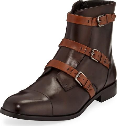 Donald J Pliner Men's Martino Triple-Strap Leather Boots