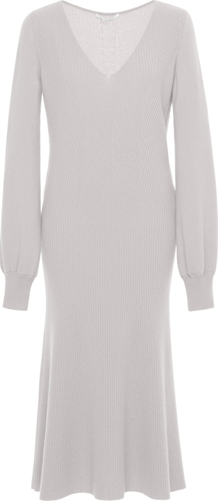 Agnona Cashmere Fully Fashioned V Neck Dress