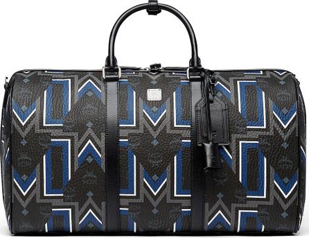 MCM Gunta Logo-Print Weekender Bag