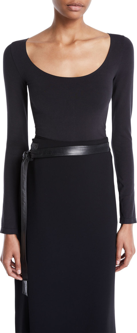 Vince Scoop-Neck Long-Sleeve Bodysuit