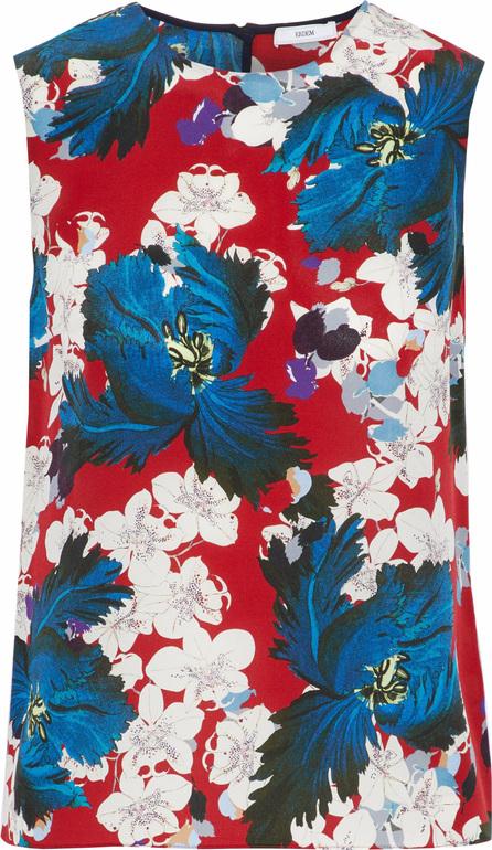 Erdem Naomi floral-print silk top