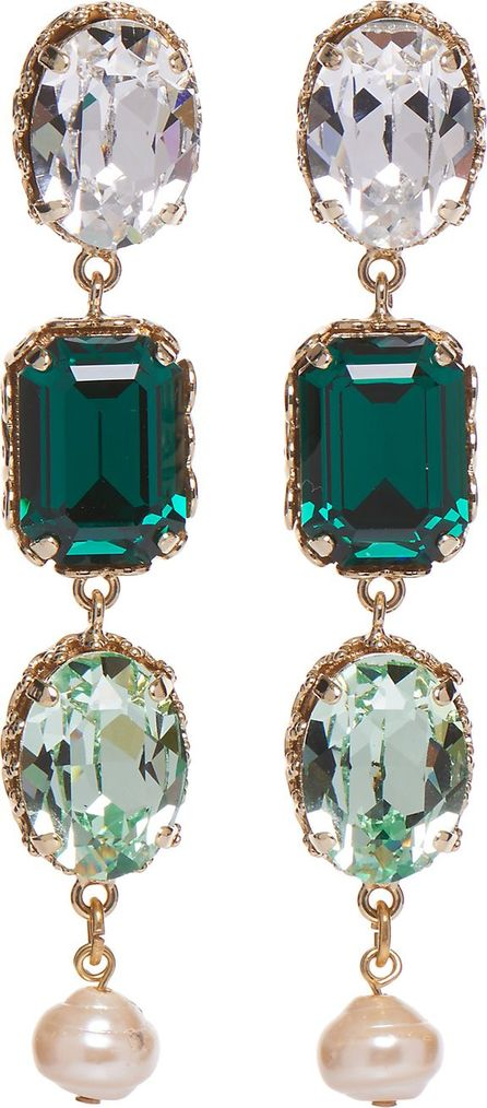Dolce & Gabbana Green Crystal Earrings