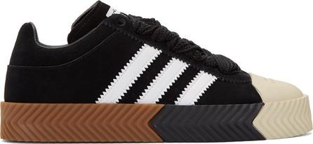 Adidas Originals by Alexander Wang Black Skate Super Sneakers