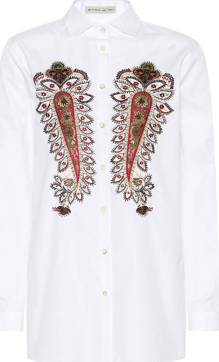 Etro Embroidered cotton shirt