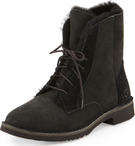 UGG Quincy Shearling Fur Combat Boot