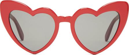 Saint Laurent Loulou heart-shaped acetate sunglasses