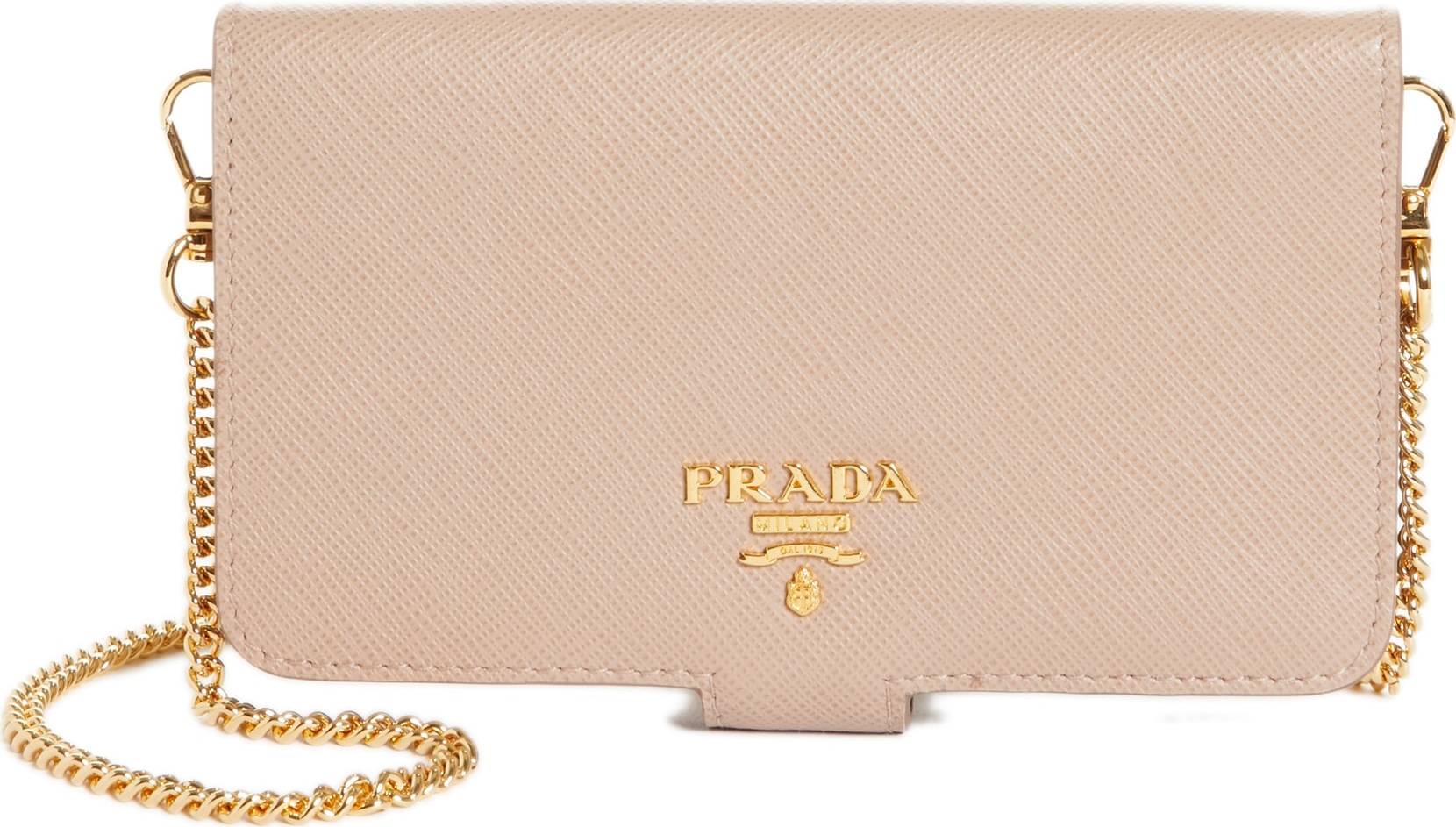 a4e47bbca071 ... canada prada saffiano metal oro chain book phone wallet e521b 28bbe