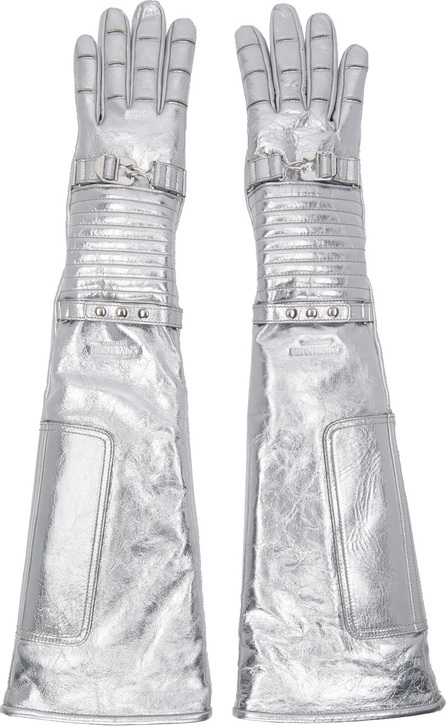 Calvin Klein 205W39NYC Silver Long Space Gloves