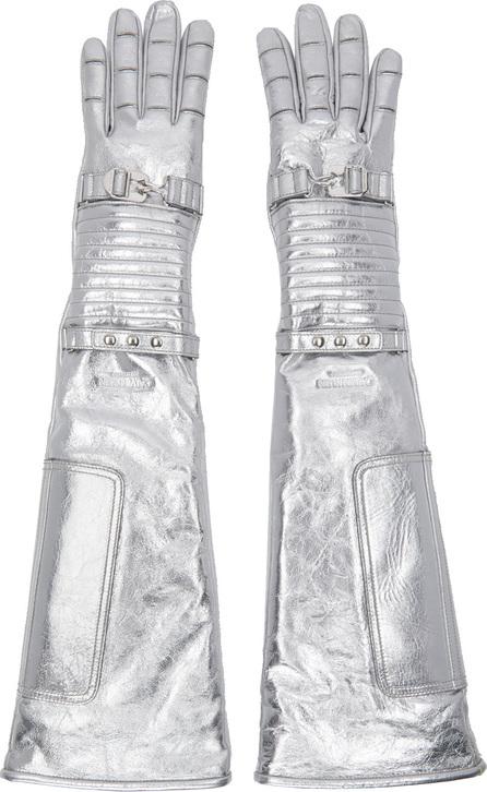 Calvin Klein 205W39NYC Silver Long Space Gloves