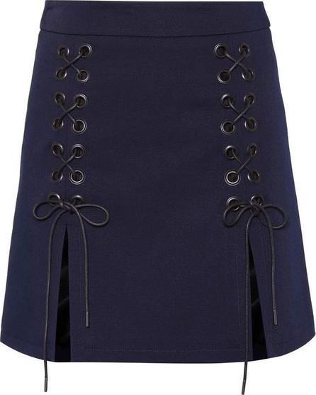 Alexachung Lace-up twill miniskirt