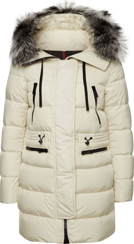 Moncler Aphrotiti Down Parka with Fur-Trimmed Hood