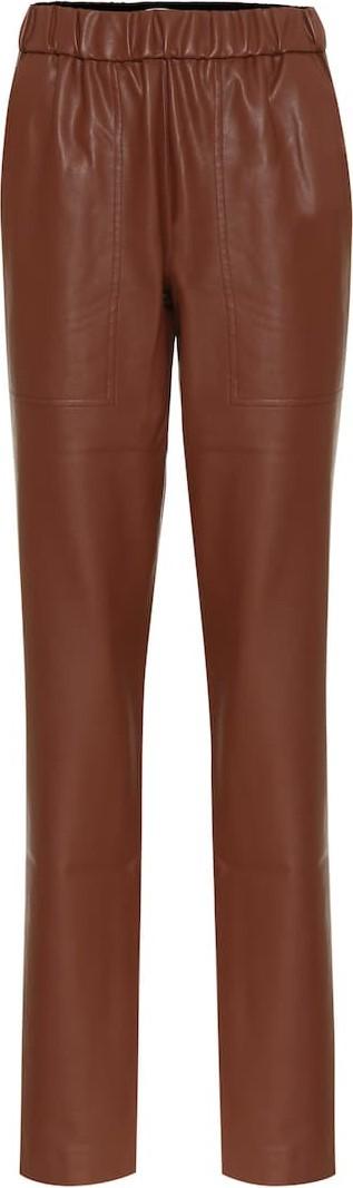 Tibi Faux-leather slim pants