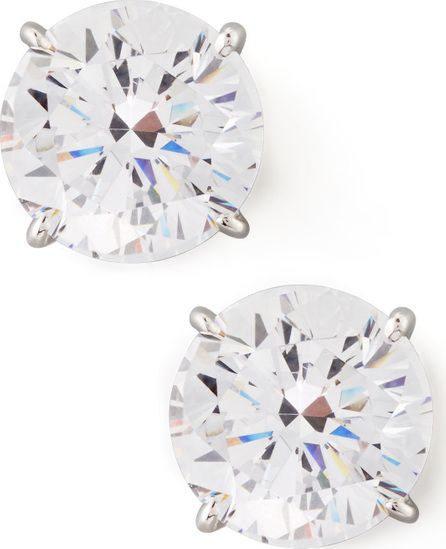 Fantasia by DeSerio Round Cubic Zirconia Stud Earrings, 9mm