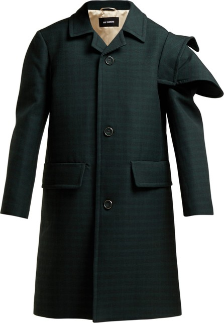 Raf Simons Single-breasted checked wool coat