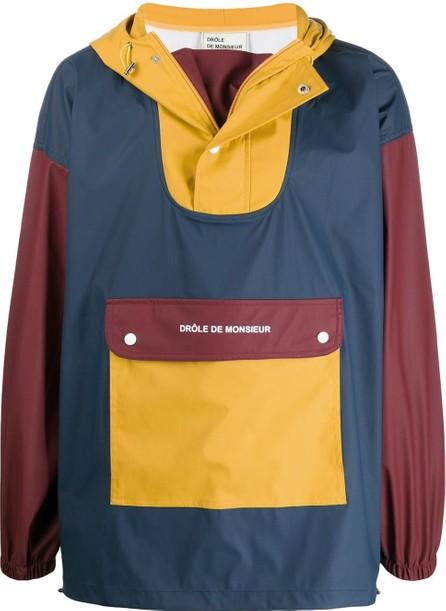 Drôle De Monsieur Colour block hooded jacket