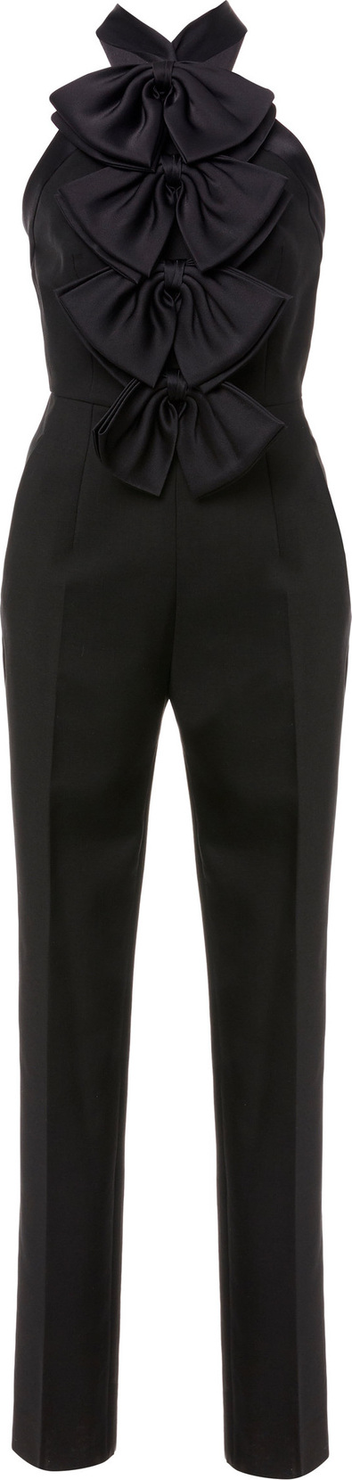 Givenchy Bow-Embellished Mohair and Wool-Blend Jumpsuit