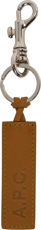 A.P.C. Tan Logo Keychain