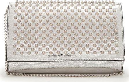 Christian Louboutin Paloma spike-embellished leather clutch
