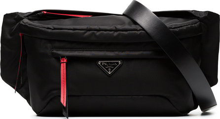 Prada Black Vela nylon belt bag