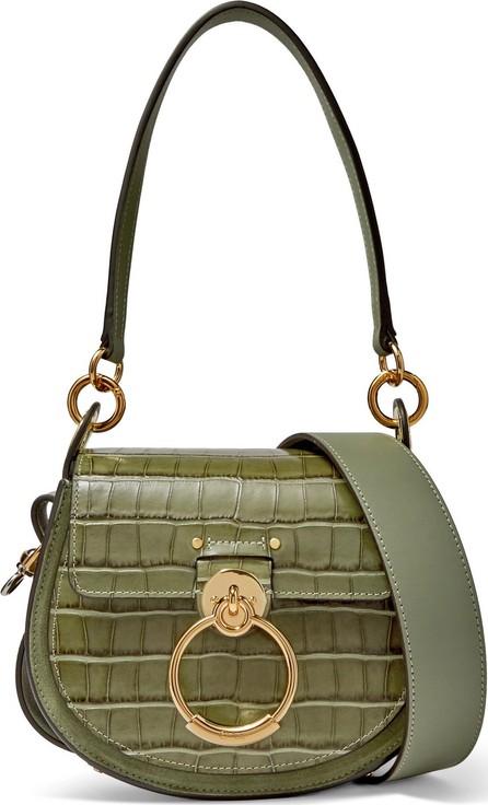 Chloe Tess small croc-effect leather shoulder bag