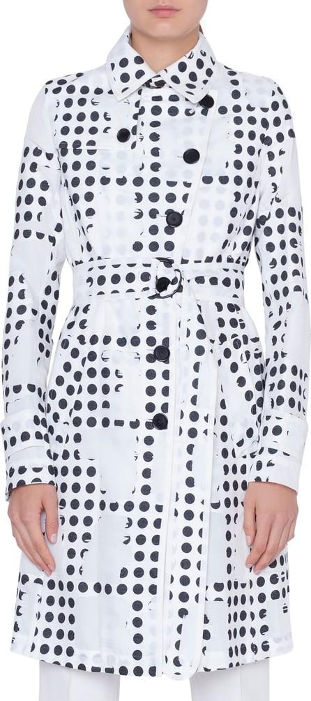 Akris Punto Window Dot Print Trench Coat