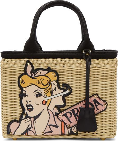 Prada Beige Comic Girl Basket Bag