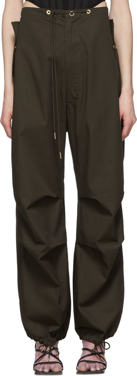 Dion Lee Green Cotton Parachute Trousers
