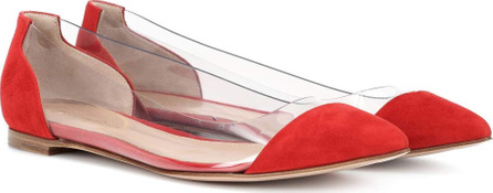 Gianvito Rossi Exclusive to mytheresa – Plexi suede ballet flats
