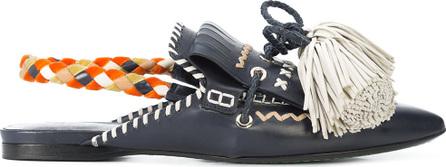 Carven Slingback tassel sandals