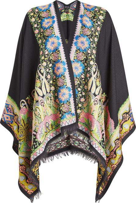 Etro Printed Shawl with Wool and Silk