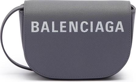 Balenciaga 'Ville Day XS' logo print grainy leather crossbody bag
