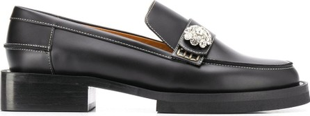 Ganni Embellished chunky loafers