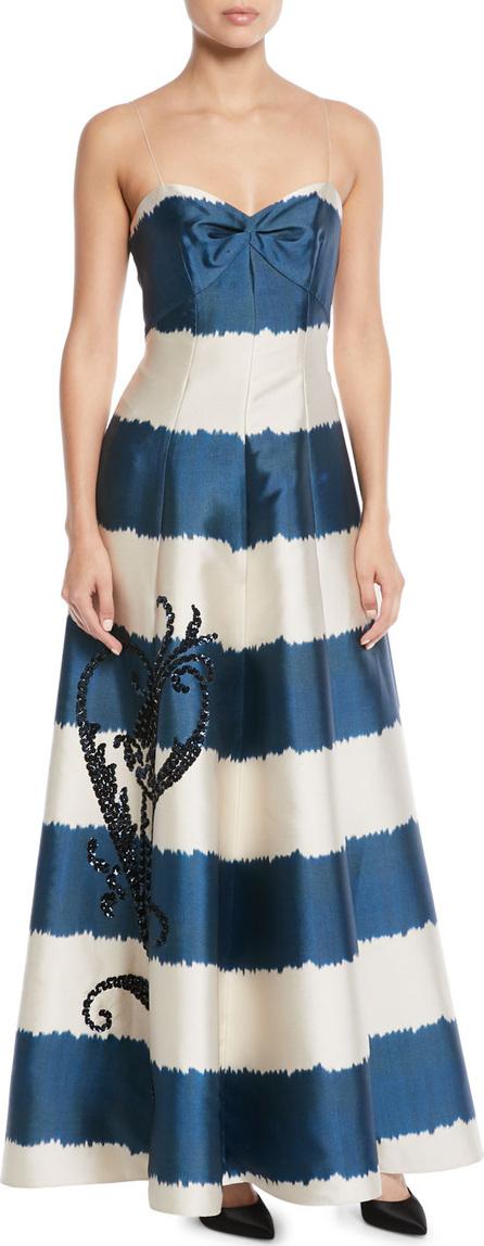 Sachin & Babi Tophane Striped Sweetheart Gown