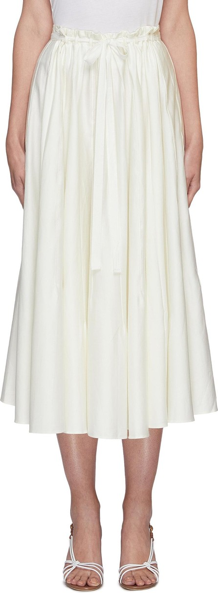 Cult Gaia Sistra paperbag waist pleated midi skirt