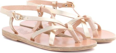 Ancient Greek Sandals Semele metallic leather sandals