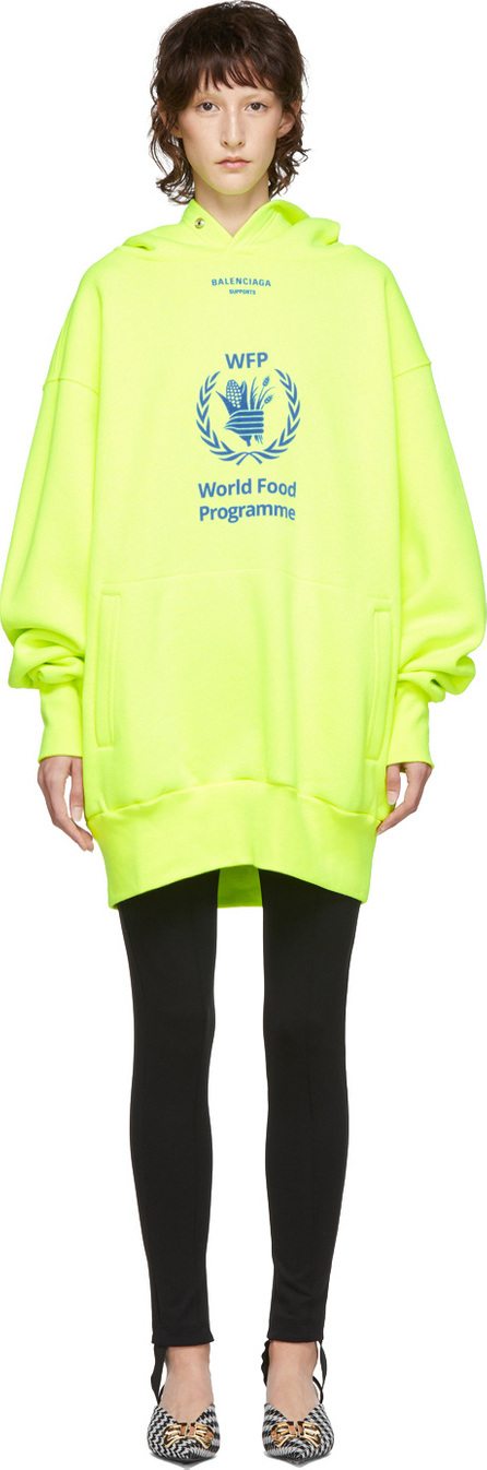 Balenciaga Yellow World Food Programme Hoodie